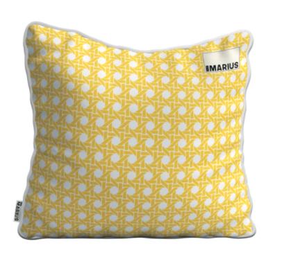 OU EST MARIUS - Cushion Cannage Mimosa 45x45cm-1