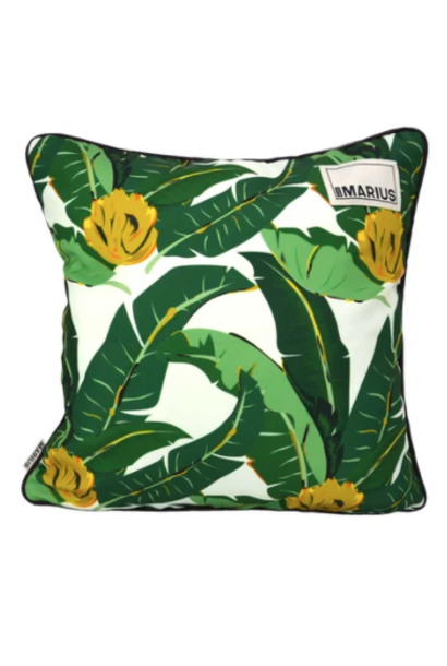 OU EST MARIUS - Abaca Aubergine Cushion 45x45cm