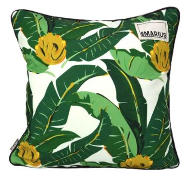 OU EST MARIUS - Abaca Aubergine Cushion 45x45cm-1