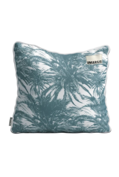 OU EST MARIUS - Canopee Luxe Jacquard Petrole Cushion 50x50cm