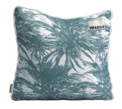OU EST MARIUS - Canopee Luxe Jacquard Petrole Cushion 50x50cm-1