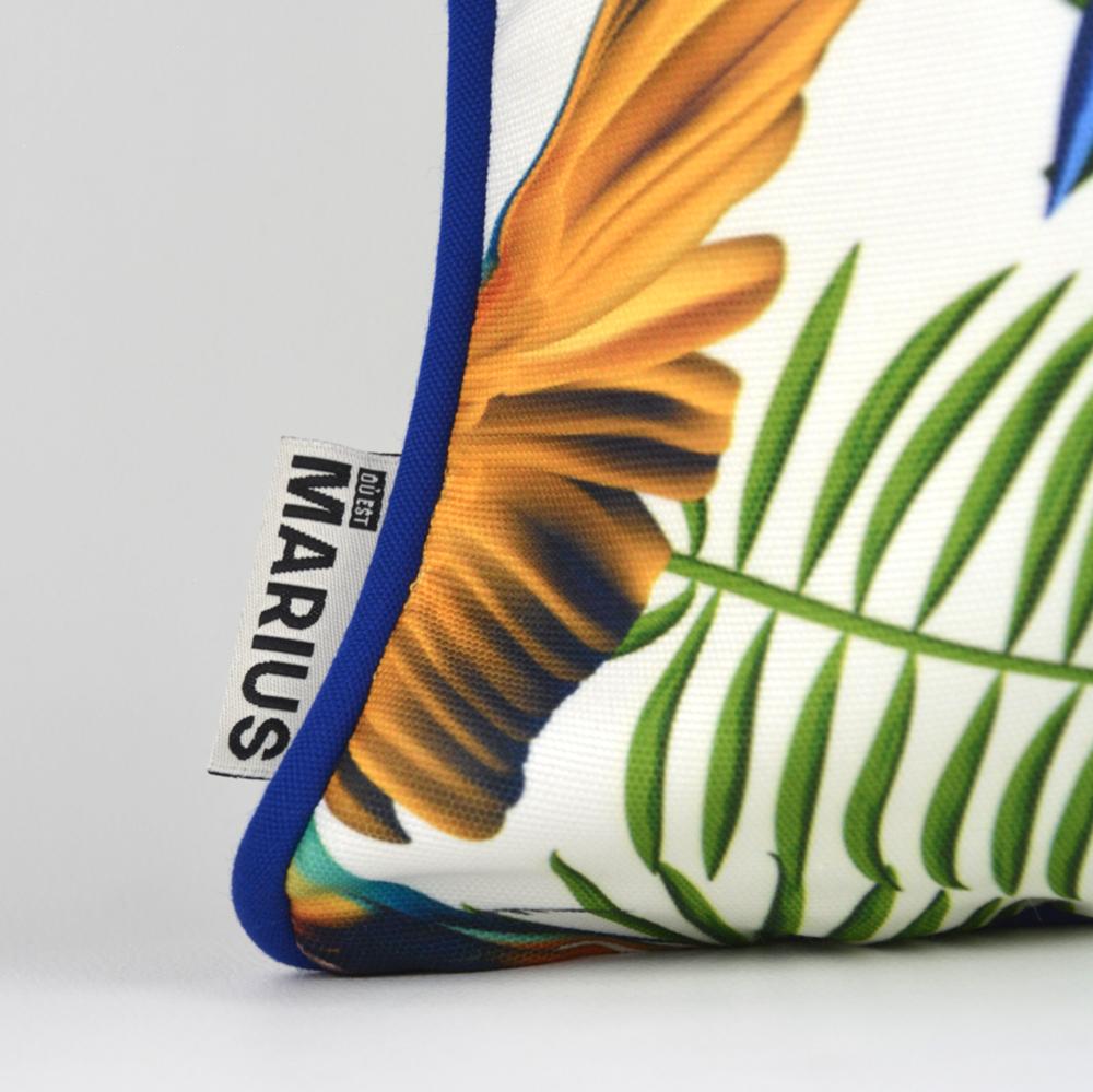 OU EST MARIUS - Fabulous Blue Aras Cushion 45x45cm-3