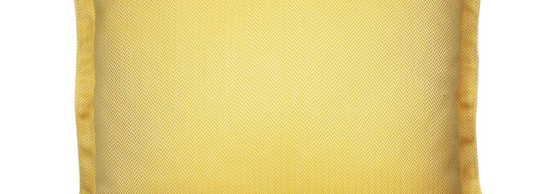 OU EST MARIUS - Luxe Chevron Sunshine Cushion 50x50cm