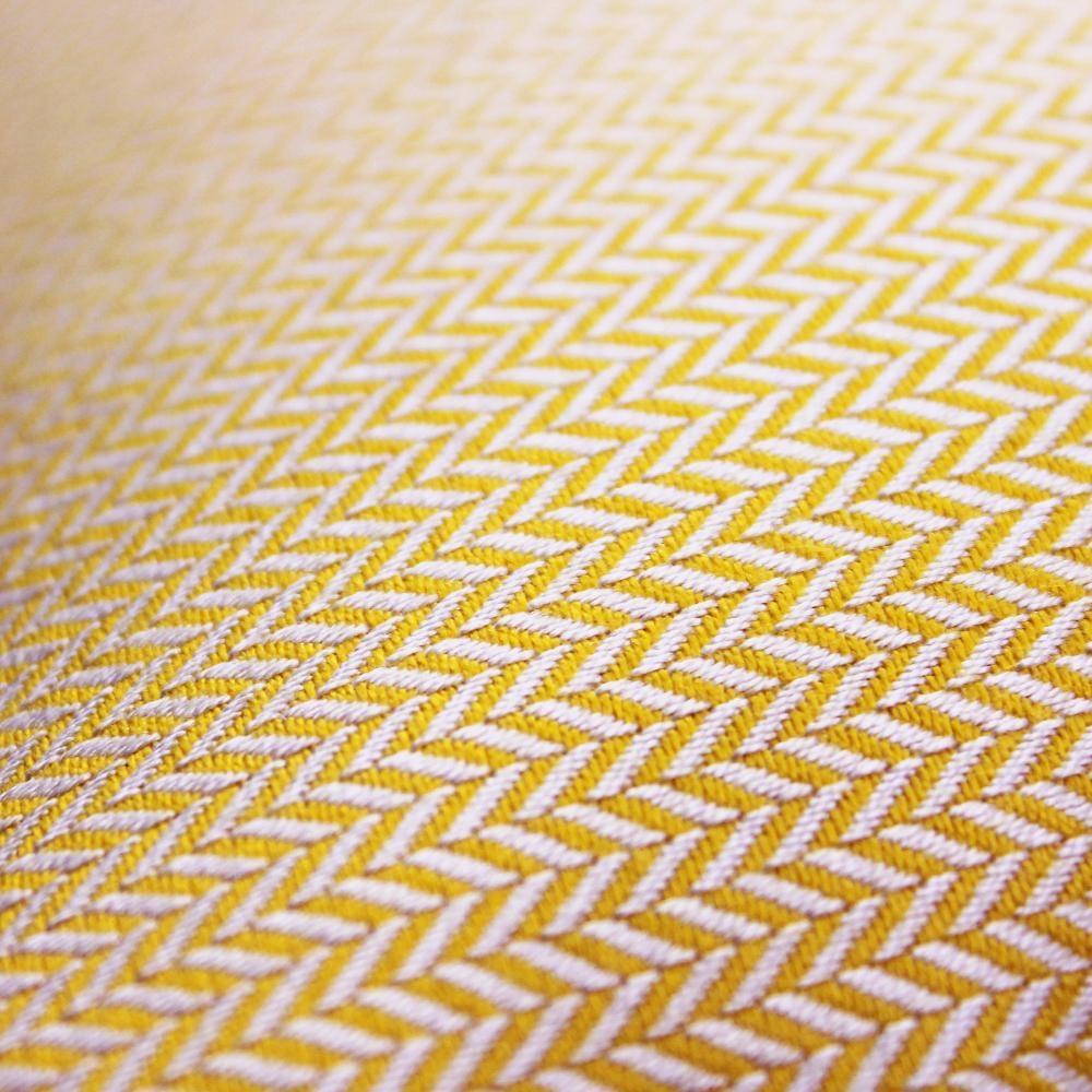 OU EST MARIUS - Luxe Chevron Sunshine Cushion 50x50cm-2