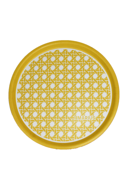 OU EST MARIUS - Yellow Round Tray Cannage D.45cm