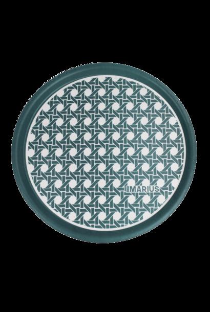 OU EST MARIUS - Green Round Tray Cannage D.45cm