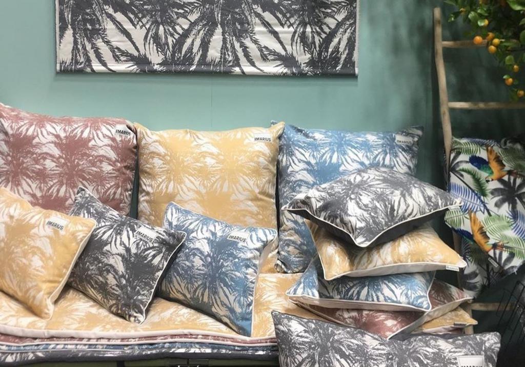 OU EST MARIUS - Canopee Luxe Jacquard Petrole Cushion 50x50cm-2