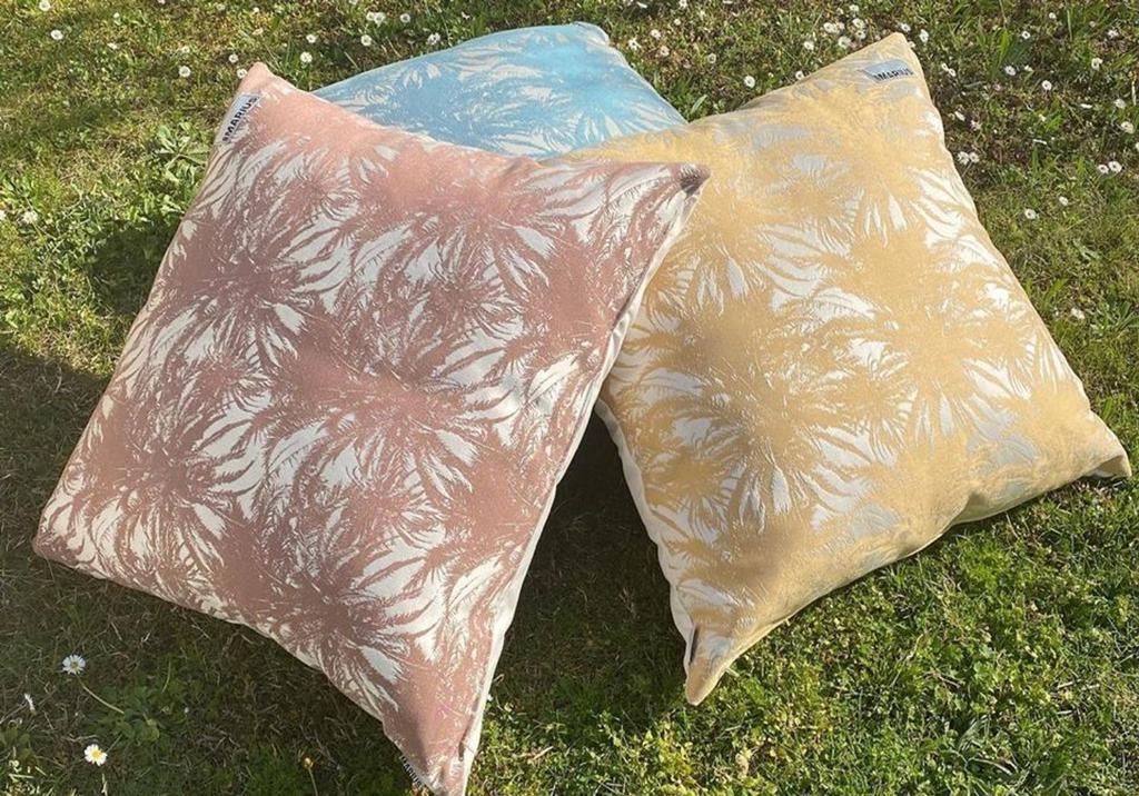 OU EST MARIUS - Canopee Luxe Jacquard Petrole Cushion 50x50cm-3