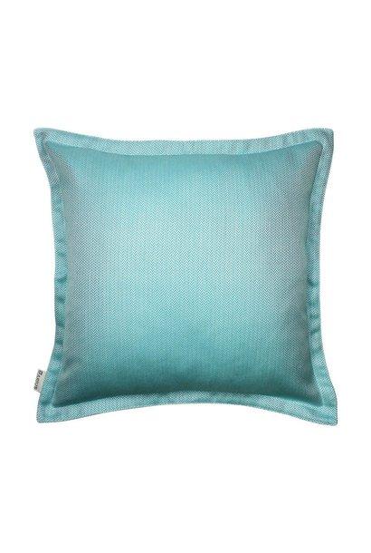 OU EST MARIUS - Chevron Mint Cushion 50x50cm