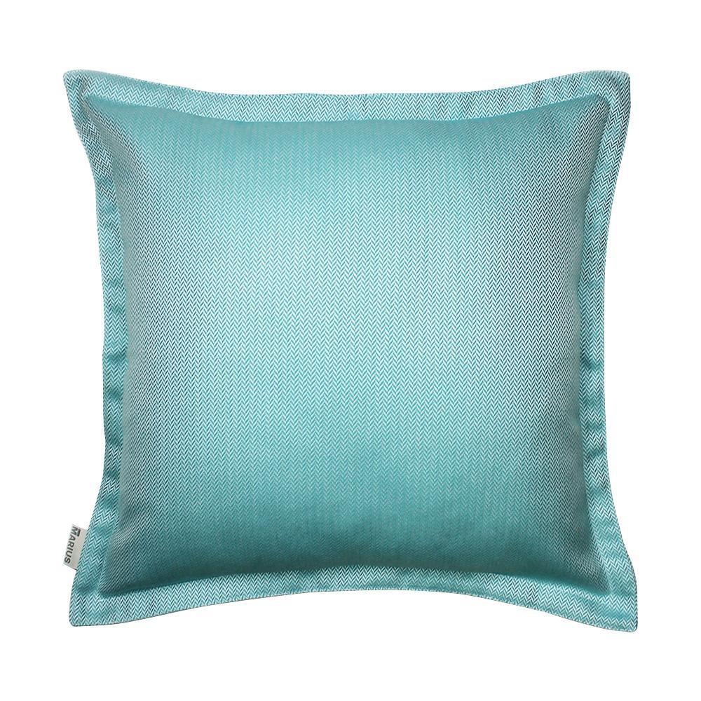 OU EST MARIUS - Chevron Mint Cushion 50x50cm-1