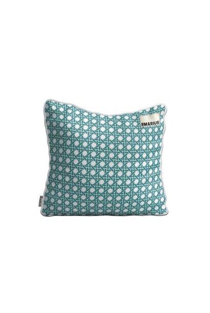 OU EST MARIUS - Cushion Cannage Emeraude 45x45cm