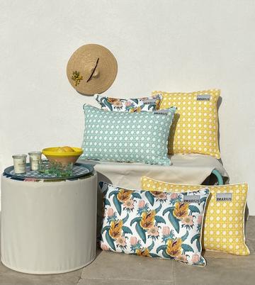 OU EST MARIUS - Cushion Cannage Mimosa 45x45cm-2