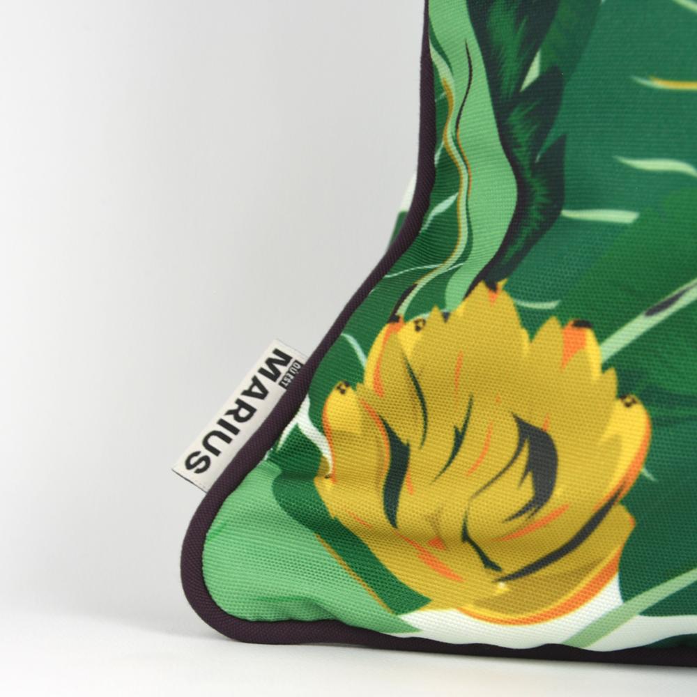 OU EST MARIUS - Abaca Aubergine Cushion 45x45cm-3