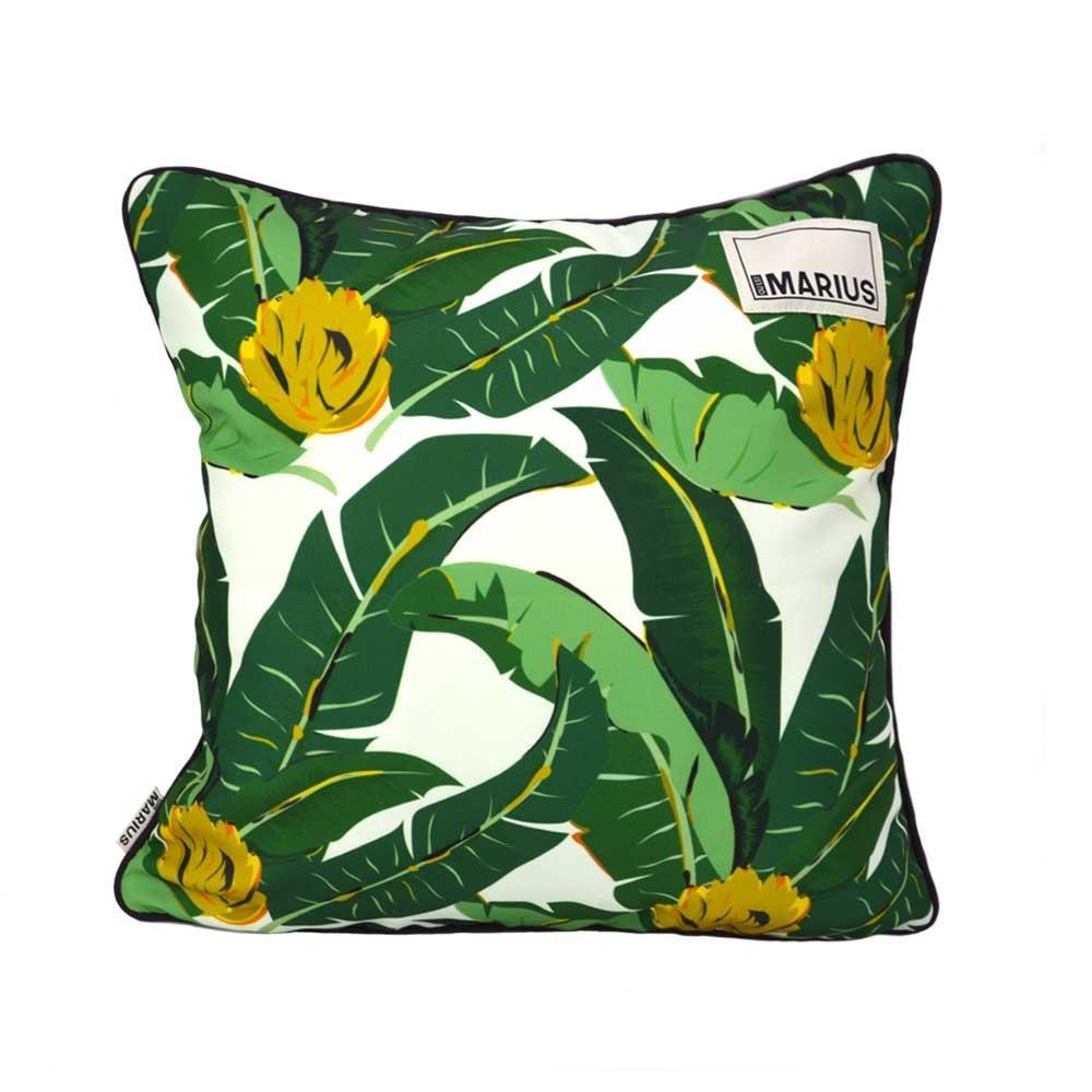 OU EST MARIUS - Abaca Aubergine Cushion 45x45cm-4