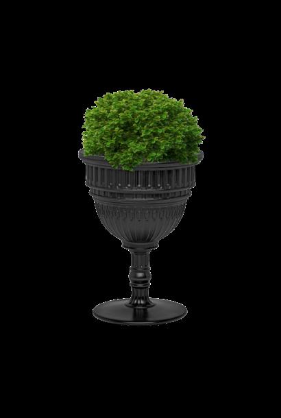 QEEBOO - Black Capitol Plant Pot