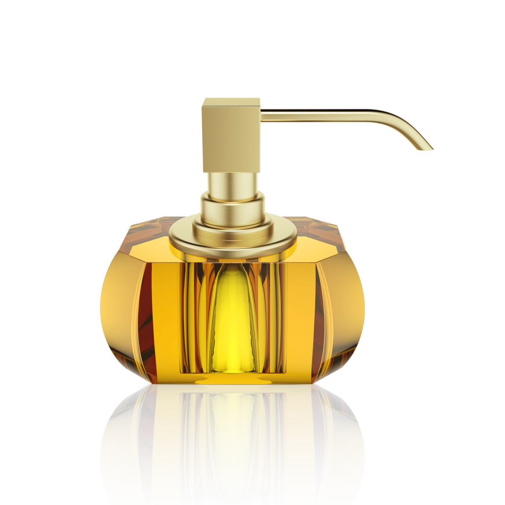 DECOR WALTHER - Crystal / Amber Soap Dispenser-1