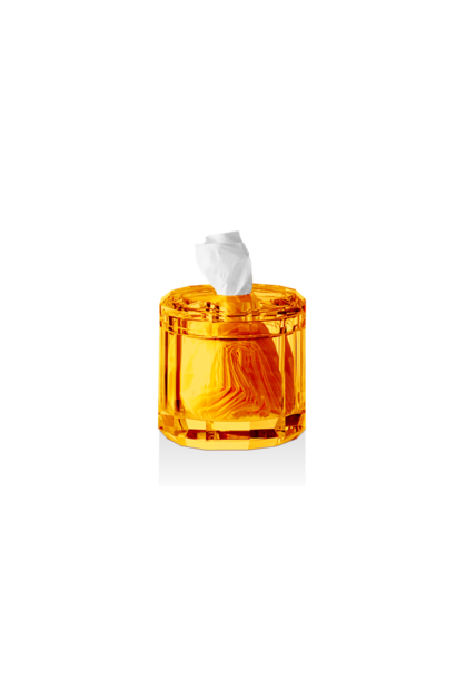 DECOR WALTHER - Crystal / Amber Tissue Box