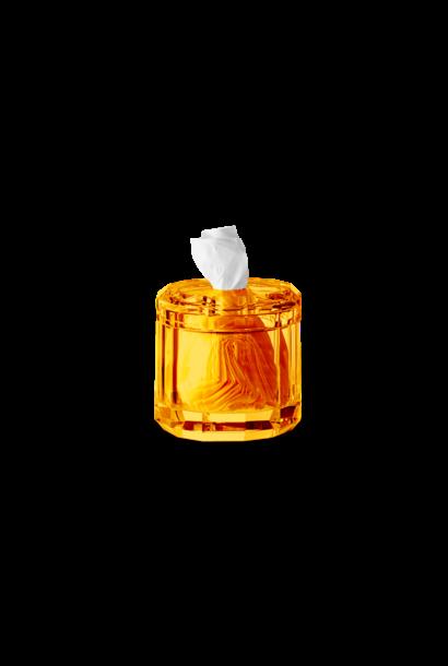 DECOR WALTHER - Boite Mouchoirs Cristal / Ambre