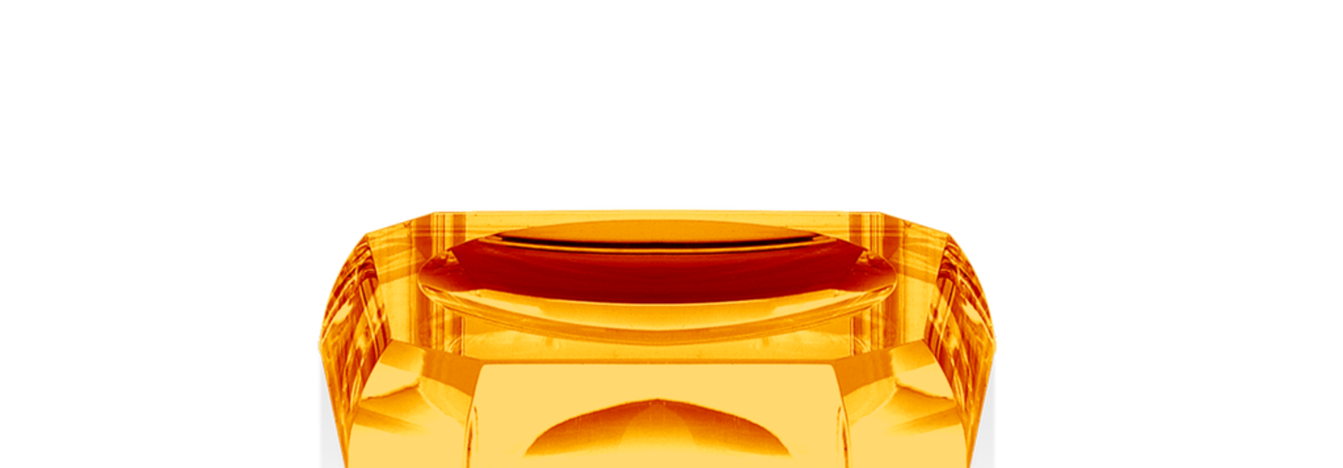 DECOR WALTHER - Amber Crystal Soap Dish