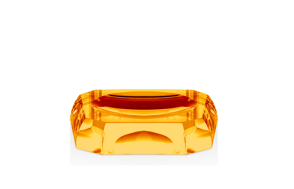 DECOR WALTHER - Amber Crystal Soap Dish-1