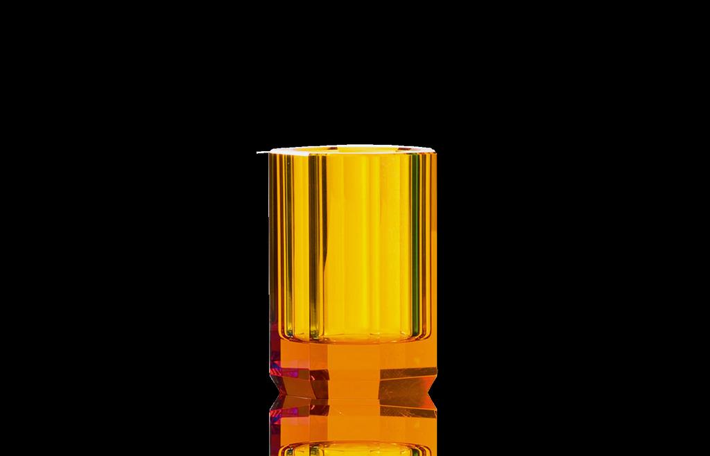 DECOR WALTHER - Amber Crystal Glass-3