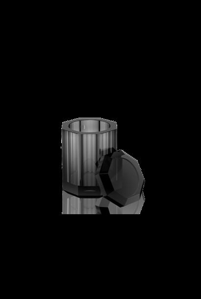 DECOR WALTHER - Boite Couvercle Cristal / Anthracite