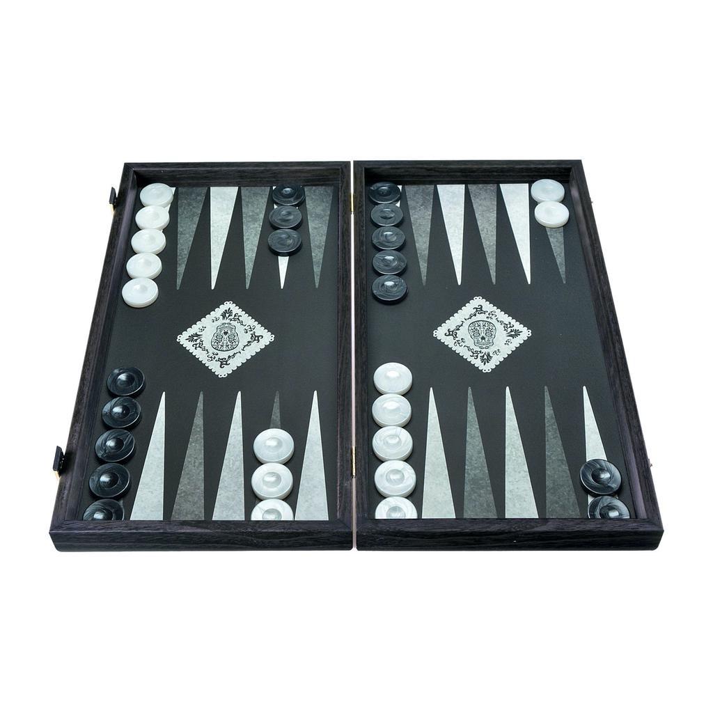 MANOPOULOS - Wood Backgammon Game Dia De Los Muertos Large-1