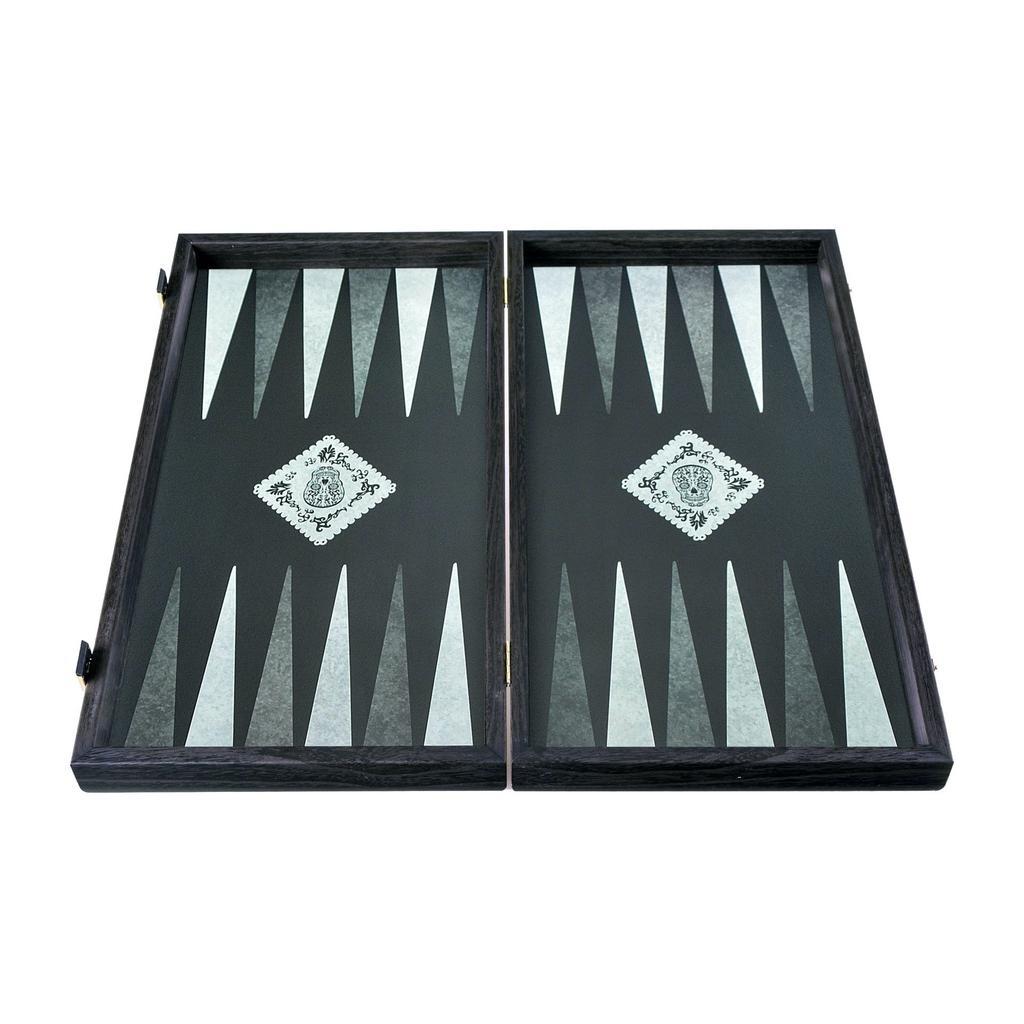 MANOPOULOS - Wood Backgammon Game Dia De Los Muertos Large-3