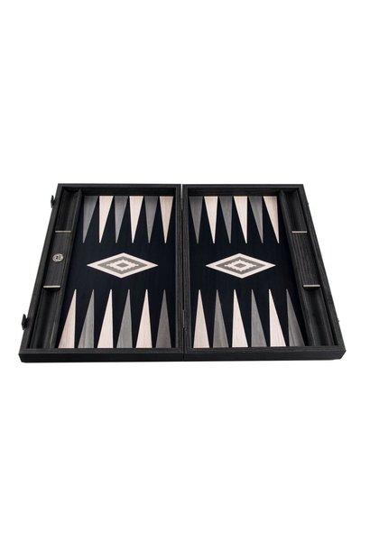 MANOPOULOS - Jeu Backgammon Gris Perle Vavona Large