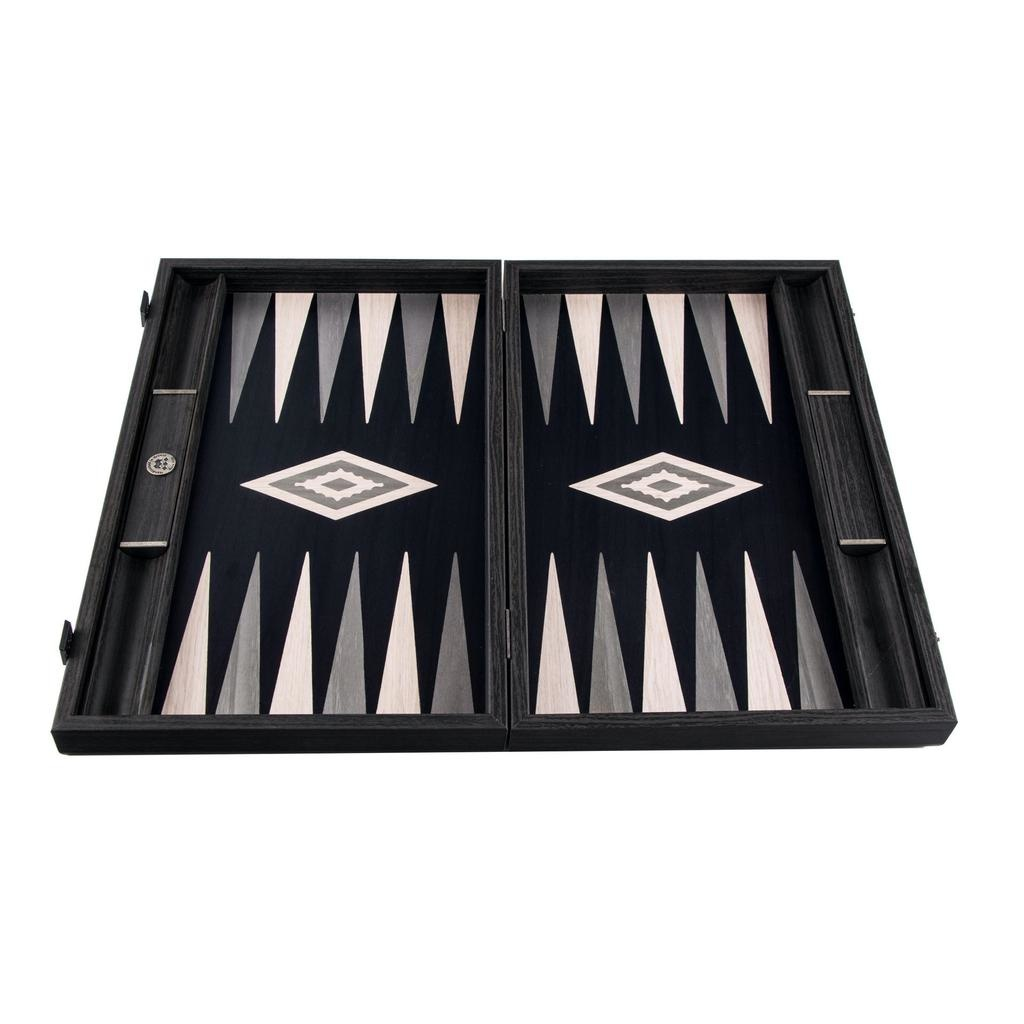 MANOPOULOS - Backgammon Games Pearl Gray Vavona Large-2