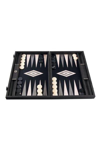 MANOPOULOS - Jeu Backgammon Gris Perle Small