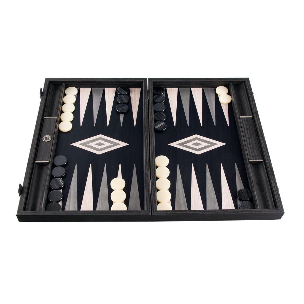 MANOPOULOS - Backgammon game Pearl Gray Small-2