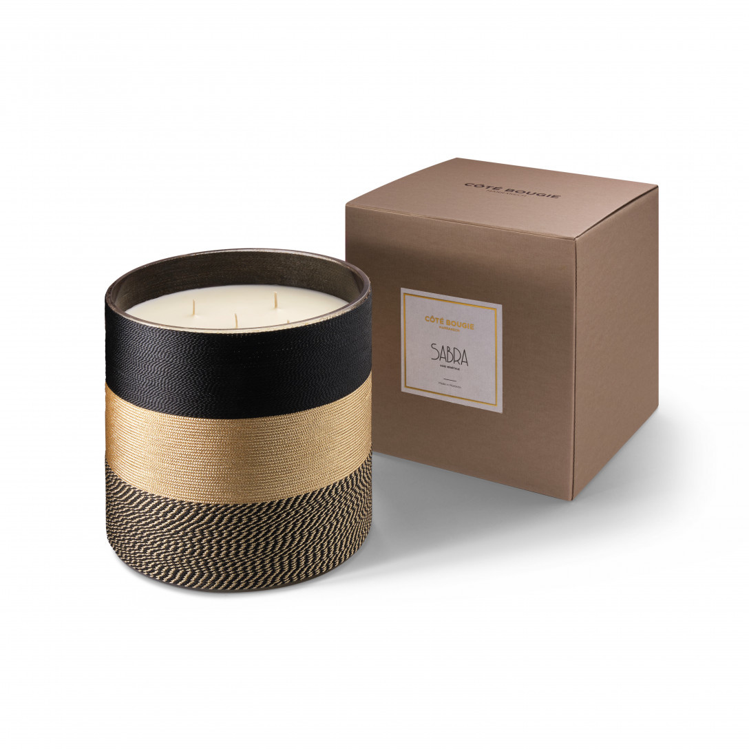 COTE BOUGIE MARRAKECH -  Sabra Nelia Black Orange Blossom Candle XL-4