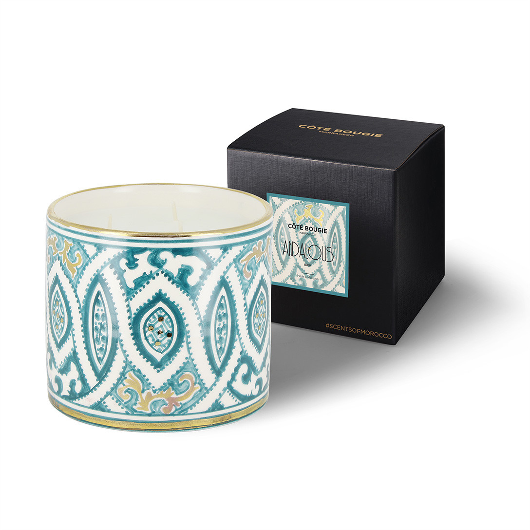 COTE BOUGIE MARRAKECH - Andalusian Blue Orange Blossom Candle M-2