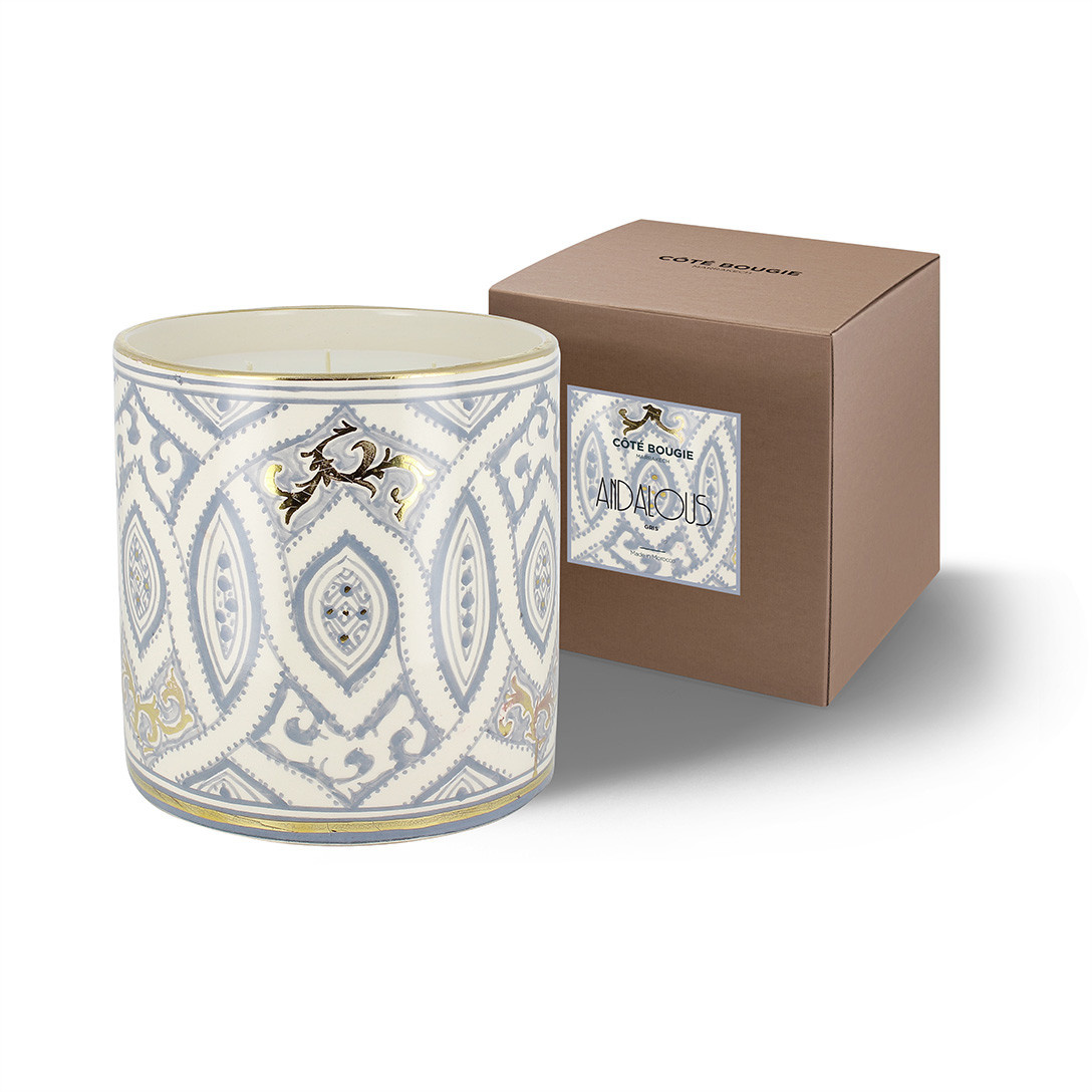 COTE BOUGIE MARRAKECH - Andalusian Gray Oriental Candle XL-2