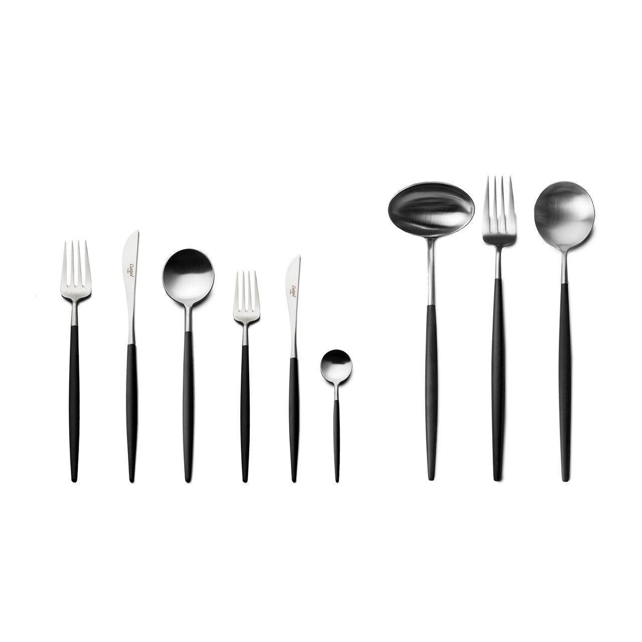 CUTIPOL - Goa Cutlery 75 pcs Black/ Inox-1