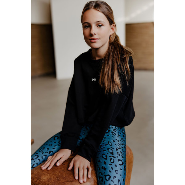 Cropped sweater Esmee black