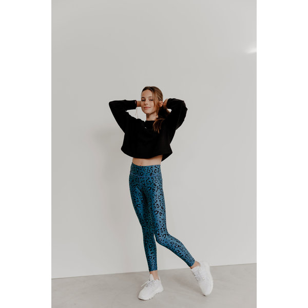 Cropped sweater Esmee blue