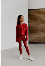 Cropped sweater Esmee red