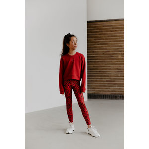 Cropped sweater Esmee rood