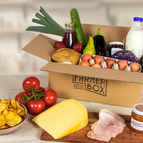 FarmerBox with changing fruit and vegetables every week
