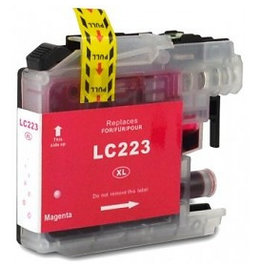 Brother LC-223 Inktcartridge Magenta (Huismerk)