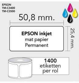 Epson Labels 50,8mm x 25,4mm 1400 permanent mat inktjet