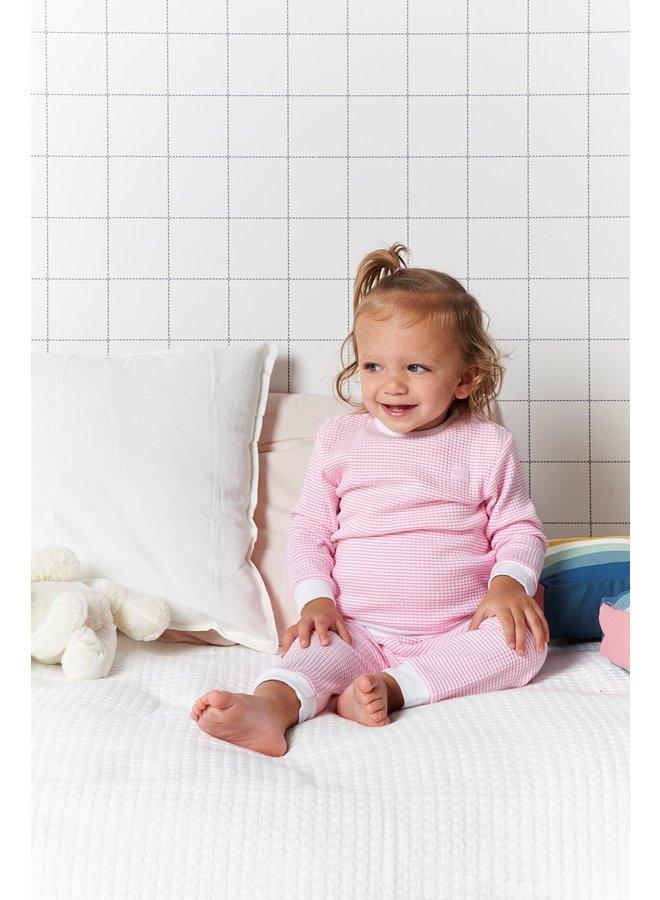 Pyjama wafel - Rose