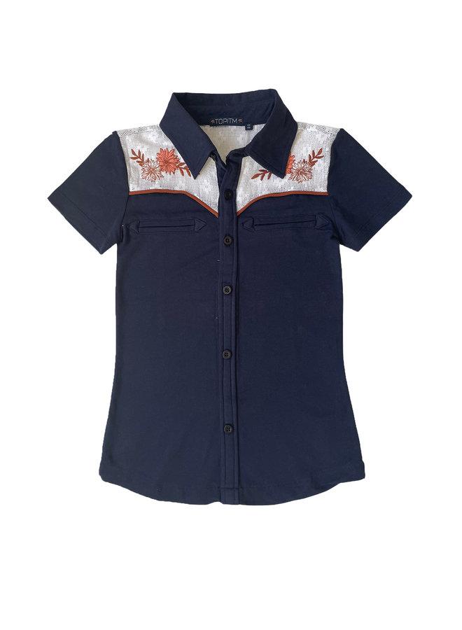 Derby blouse  - Dark Blue