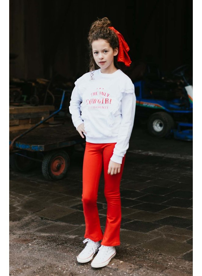 Jose flare pant - red