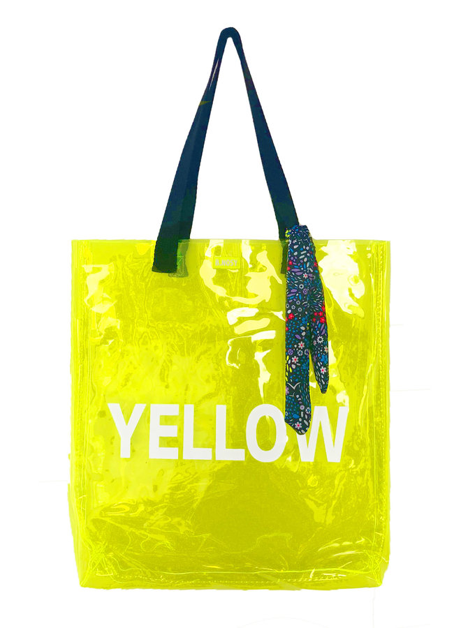 Girls fluo transparant bag - Safety yellow