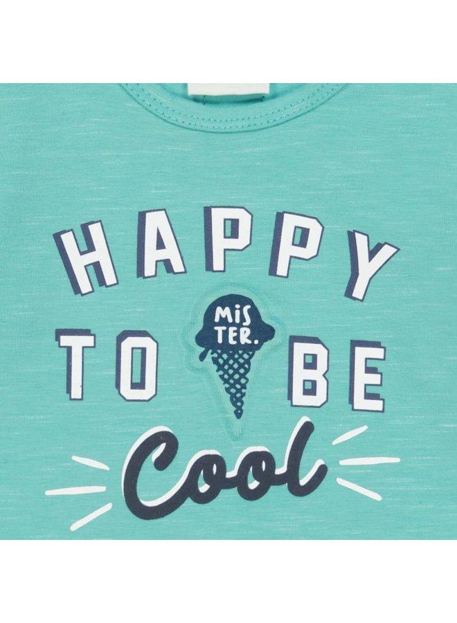 Longsleeve Happy - Team Icecream - Mint melange