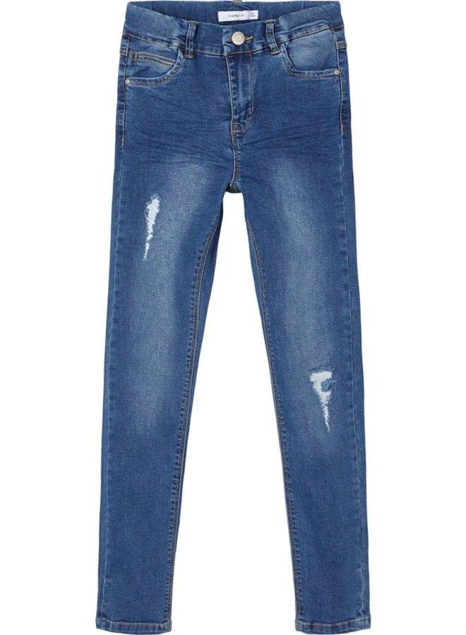 NKFPOLLY DNMTRILLAS 2475 HW PANT NOOS - Medium Blue Denim
