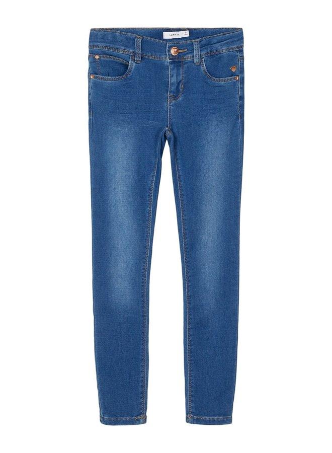 NKFPOLLY DNMTHAYERS 2482 SWE PANT NOOS - Medium Blue Denim